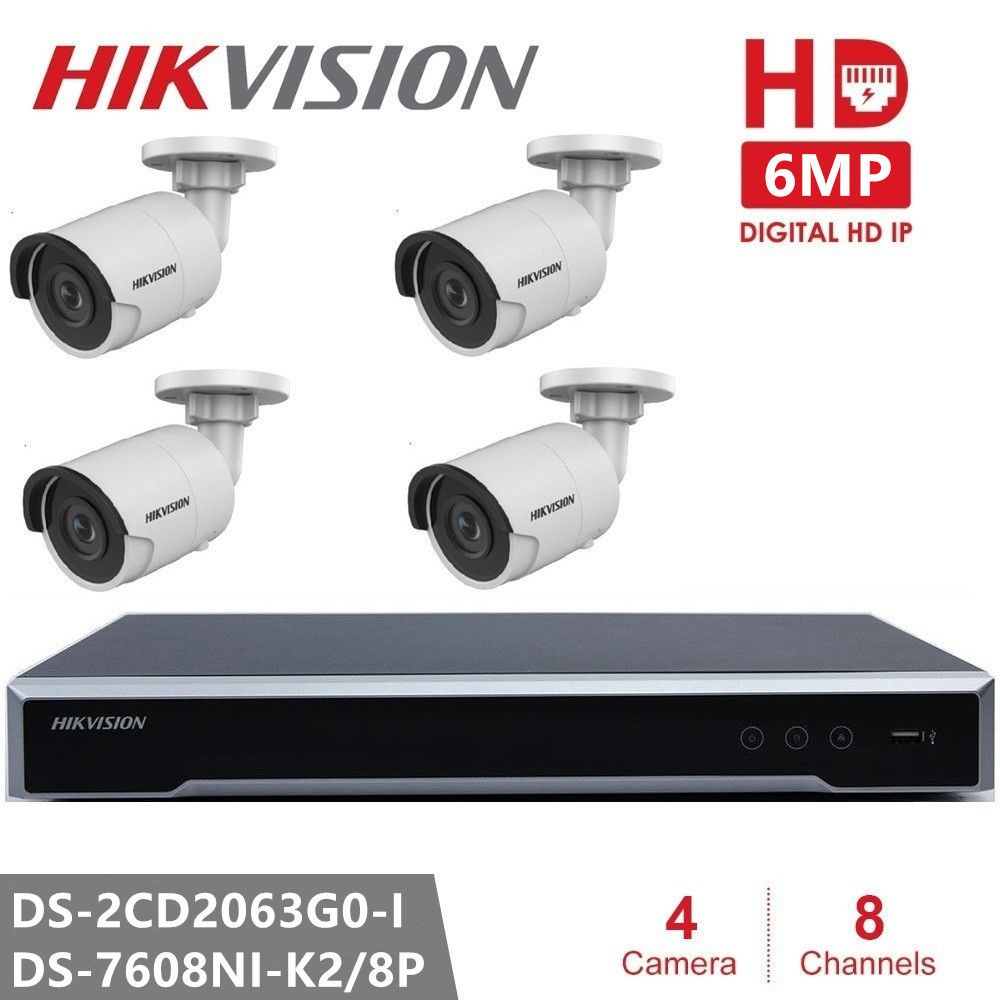 Hikvision 6MP IP Kamera DS-2CD2063G0-I CCTV System Outdoor Video Überwachung POE H.265 Hause Nacht Version Sicherheit Kamera