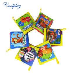 Coolplay Kain Lembut Buku-buku Gemerisik Suara Bayi Bayi Tenang Buku Pendidikan Stroller Rattle Mainan untuk Bayi Baru Lahir 0-12 bulan}
