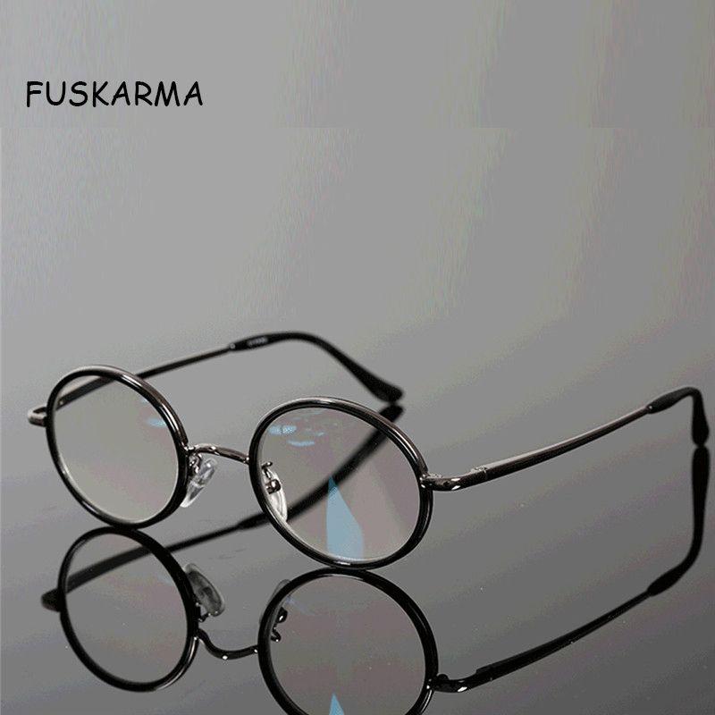 Nouveau lunettes de lecture hommes femmes rétro rond métal montures lunettes presbyte lunettes Diopter 2.5 1.5 Vintage lunettes Oculos