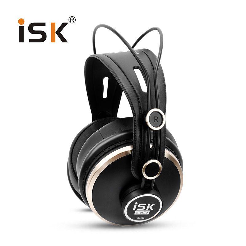 Genuine ISK HD9999 Pro HD Monitor Headphones Fully closed Monitoring Earphone DJ/Audio/Mixing/Recording Studio Headset hd681 evo