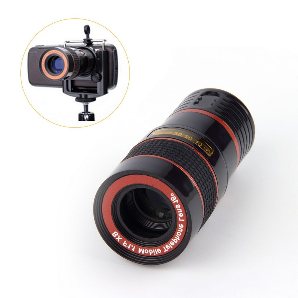 Optical Lens 8X Zoom Telescope For Camera Mobile Phone 4s camera zoom Wholesale Store