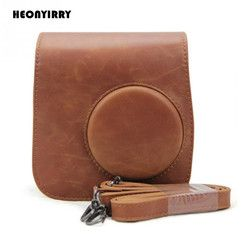 Leather Camera Shoulder Strap Bag Protect Case Pouch For Fujifilm Instax Mini 9 mini 8 8+ Cases Small PU Instant Camera Bag Case