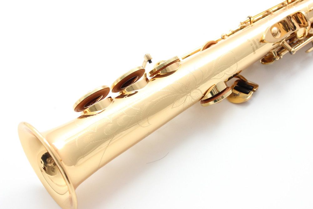 OEM L&K Golden straight Gold saxophone soprano B sax Gold Lacquer France super action series 80 II soprano saxophone