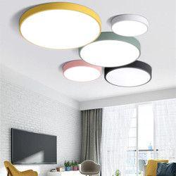 Ultrafino moderna 5 cm techo lámpara multicolor arte control remoto LED luces de techo para sala familia iluminación del hogar