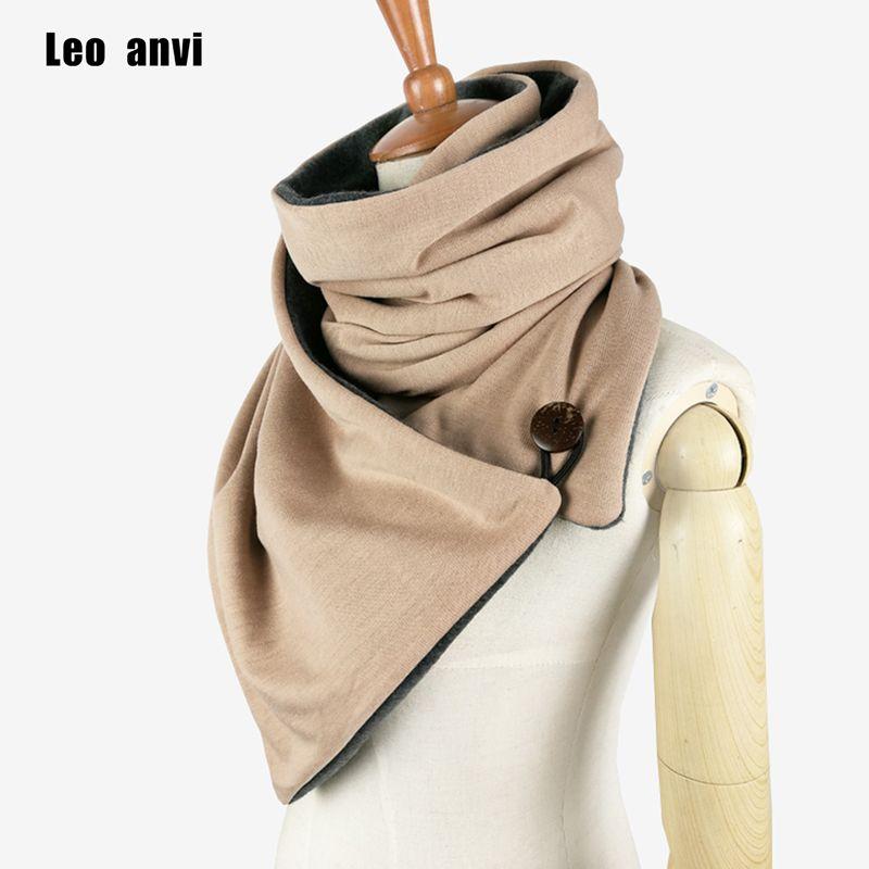 Leo anvi conception Hiver écharpe De Mode En Tricot Hommes infinity Écharpe, Bouton Capot cache-Cou Chunky tube Écharpe femmes Cadeau echarpes wraps