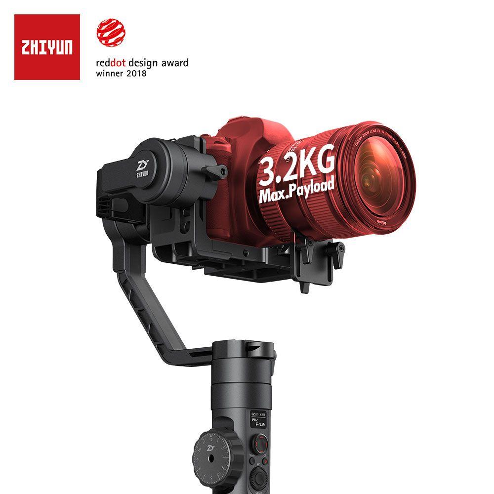 ZHIYUN Offizielle Kran 2 Neue Stabilisator Gimbal für Alle DSLR Kameras mit Folgen Fokus Stativ Kamera Control Kabel