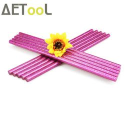 AETool Rose Warna Merah 7x180 MM Lem Gemerlapnya Panas Meleleh lem Tongkat 7 MM Untuk Pemanas Listrik Alat DIY Art Craft hobi