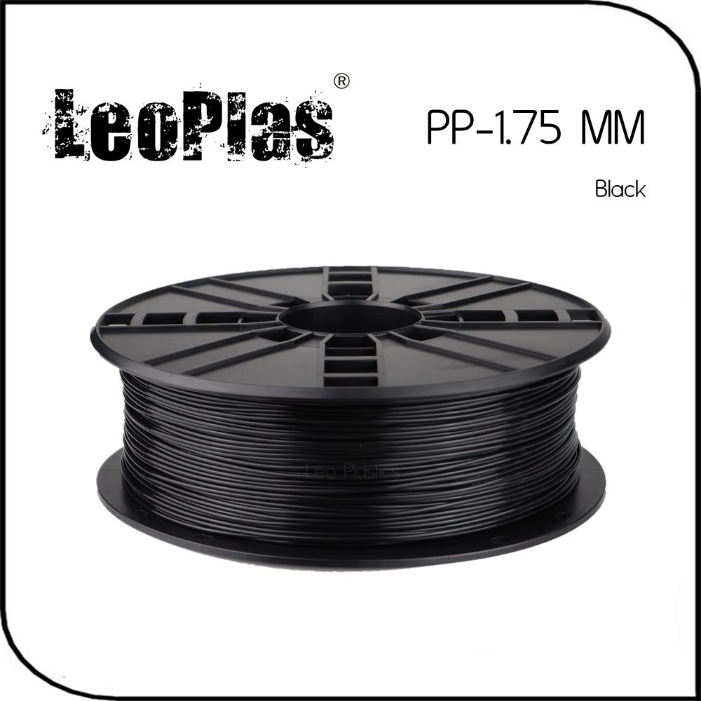 Быстрая доставка по всему миру прямого производителя 3D-принтеры Материал 1 кг 2.2lb 1.75 мм Черный ПП нити