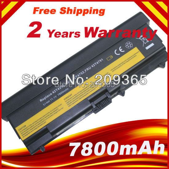 9cells 7800mAh Battery For Lenovo ThinkPad L410 L412 L420 L421 L510 L512 L520 SL410 SL510 T410 T410i T420 T510 T520 Edge 14