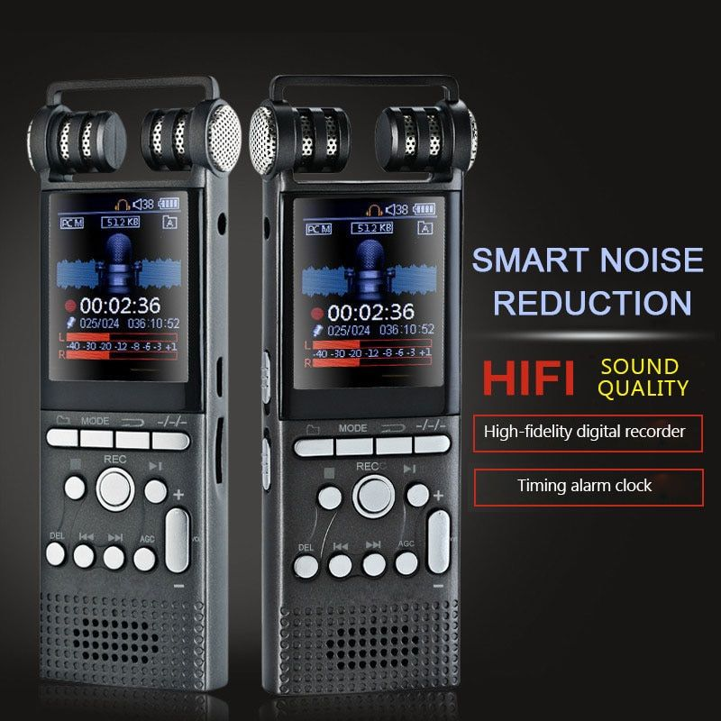 Portable hifi Long Distance Digital Voice Recorder Professional Manufacturer professional recorder 16G UP to 580 hous recording