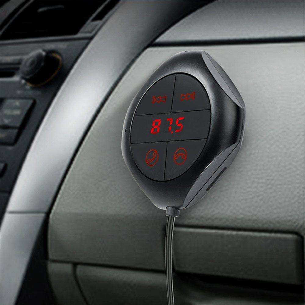 Автомобиль Беспроводной приемник Bluetooth голосовой навигации AUX разъем Music Receiver двойной зарядка через USB Разъем телефон плоский Панель Универ...