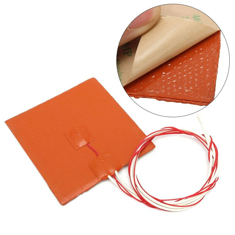 Mayitr Silicone Heating Pad Heater 120W 12V Heater Pad Heating Mat For 3D Printer Heated Bed 12cmx 12cm