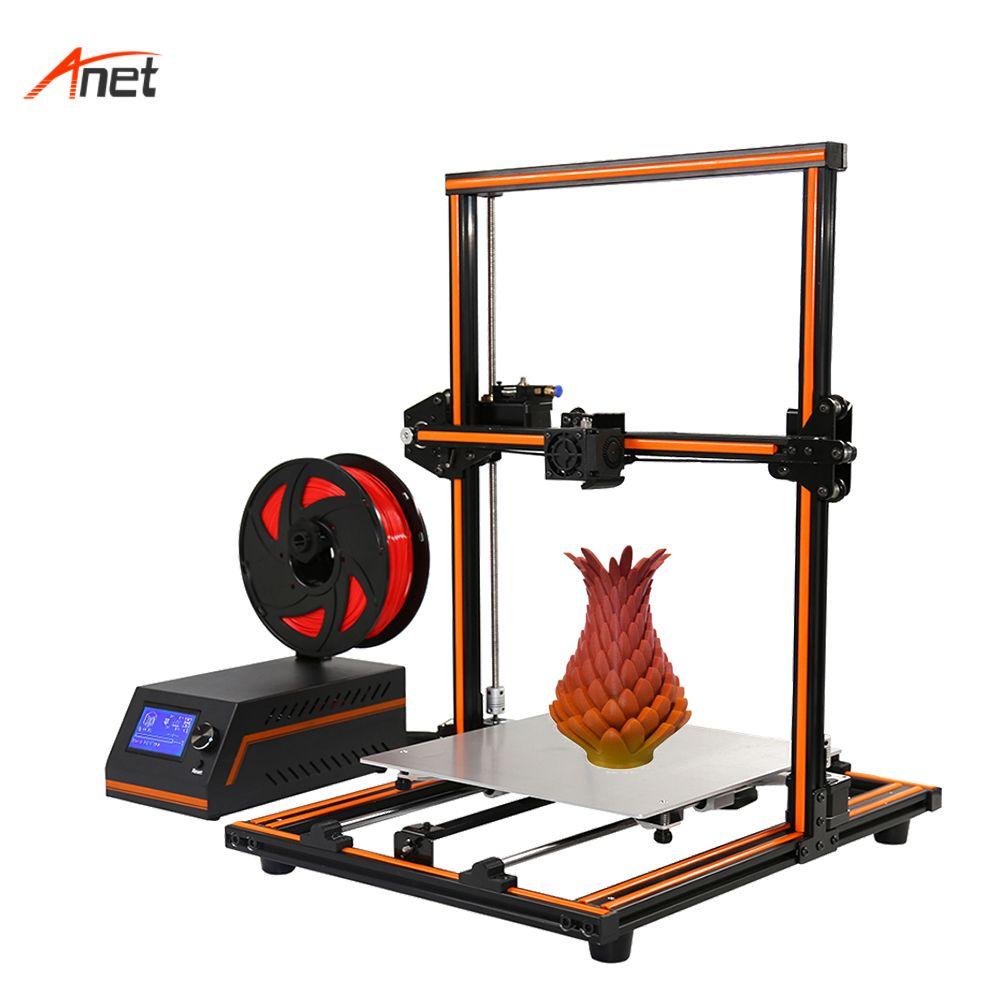 Anet E12 Largest Builde Volume Desktop 3d Printer 0.1-0.4mm Printing Precision Remote Feeding Impressora 3d Semi Assembled Frame