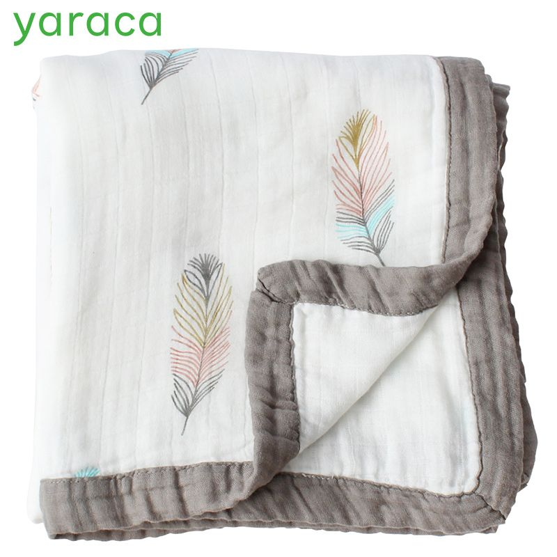 2 Layers Baby Blanket For Newborns Bamboo Fiber Cotton Muslin Swaddle For Infant Baby Bedding Sheet Play Mat For Kids Bath Towel