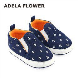 2016 otoño 0-1Y infantil del bebé del Niño Zapatos Zapatillas Casual azul marino deslizamiento-en los zapatos suaves del pesebre primeros caminantes Sapato Menino
