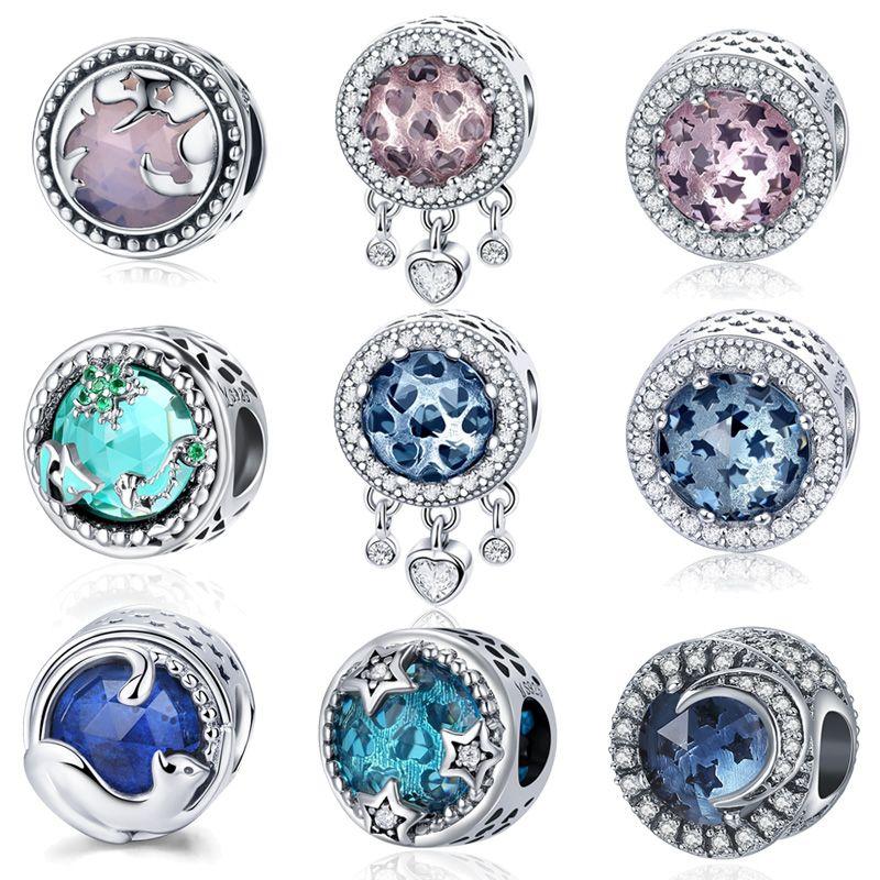 WOSTU 2018 Offre Spéciale 925 Sterling Silver Radiant Coeurs Rose Perles Fit Charm Bracelet D'origine Authentique Fine Jewelry