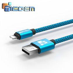 Tiegem USB Chargeur Câble pour iPhone 5 5S 6 6 s X iPad SE pour iPad Air Mini Fil 1 2 m De Voiture Rapide De Charge Cordon Mobile Téléphone Câbles