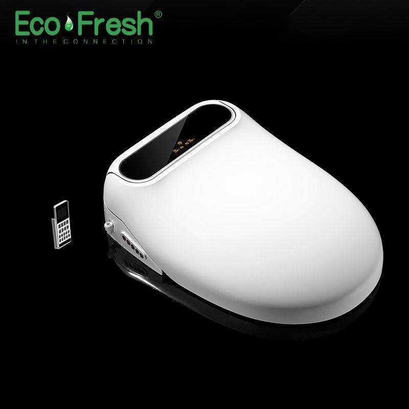 Ecofresh Smart wc-sitz wc-sitz bidet Dusch-wc Elektrische Bidet abdeckung wärme sitz led licht Intelligente toilette abdeckung auto