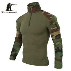 MEGE 12 Camouflage farben UNS Armee Kampf Uniform militär shirt fracht multicam Airsoft paintball tactical tuch mit ellenbogen pads