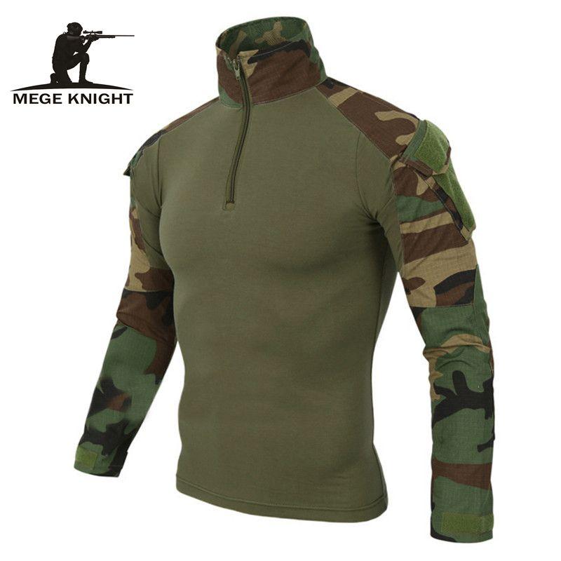 MEGE 12 colores EE. UU. militar Del Ejército Uniforme de Combate de Camuflaje camisa de carga multicam Airsoft paintball tactical tela con coderas