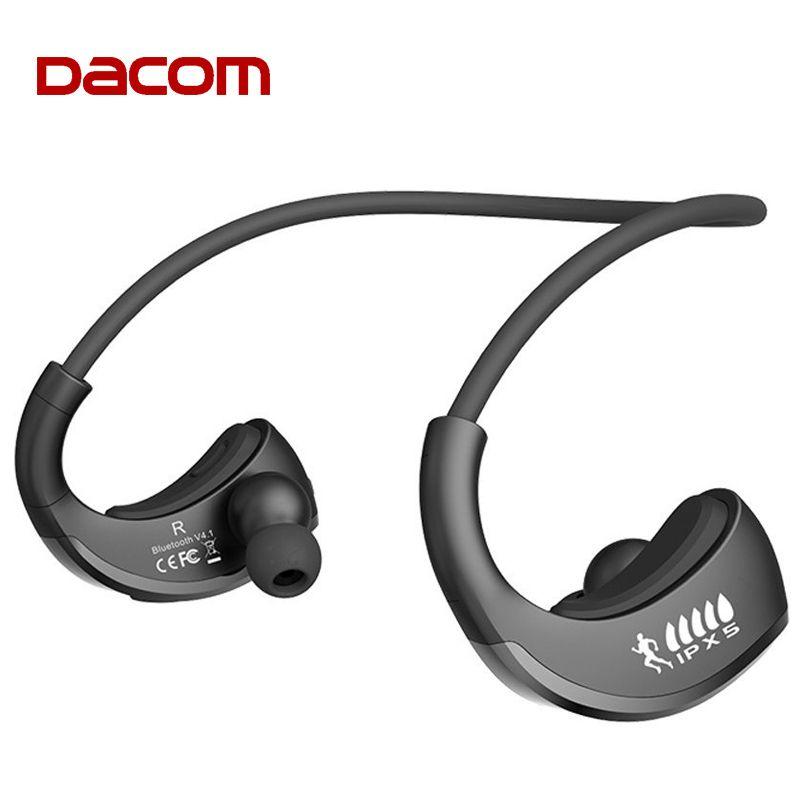 DACOM Armor IPX5 étanche Bluetooth casque sans fil écouteur sport course casque oreille-crochet avec micro fone de ouvido