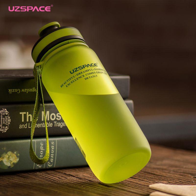 UZSPACE 650/1000 ml Sport Portable Espace shaker Voyage Gym Escalade Tritan en Vélo Mes Bouteilles de Boissons en plastique pour l'eau (SANS BPA)