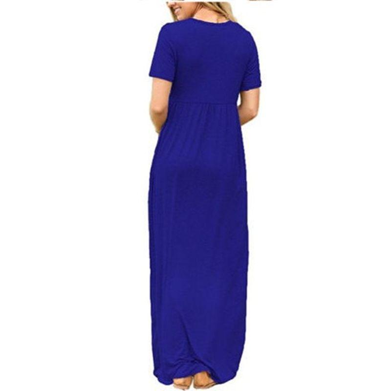 Fashion Cotton Women O-Neck Flare Sleeve Long <font><b>Tent</b></font> Dress Split Hem Bohemian Beach Loose Casual Dress Robe Femme Summer Vestido