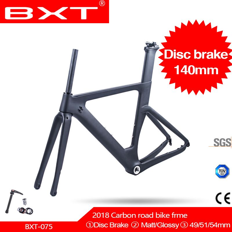 Free shipping NEW T800 Carbon Disc Brake road frame 1-1/2
