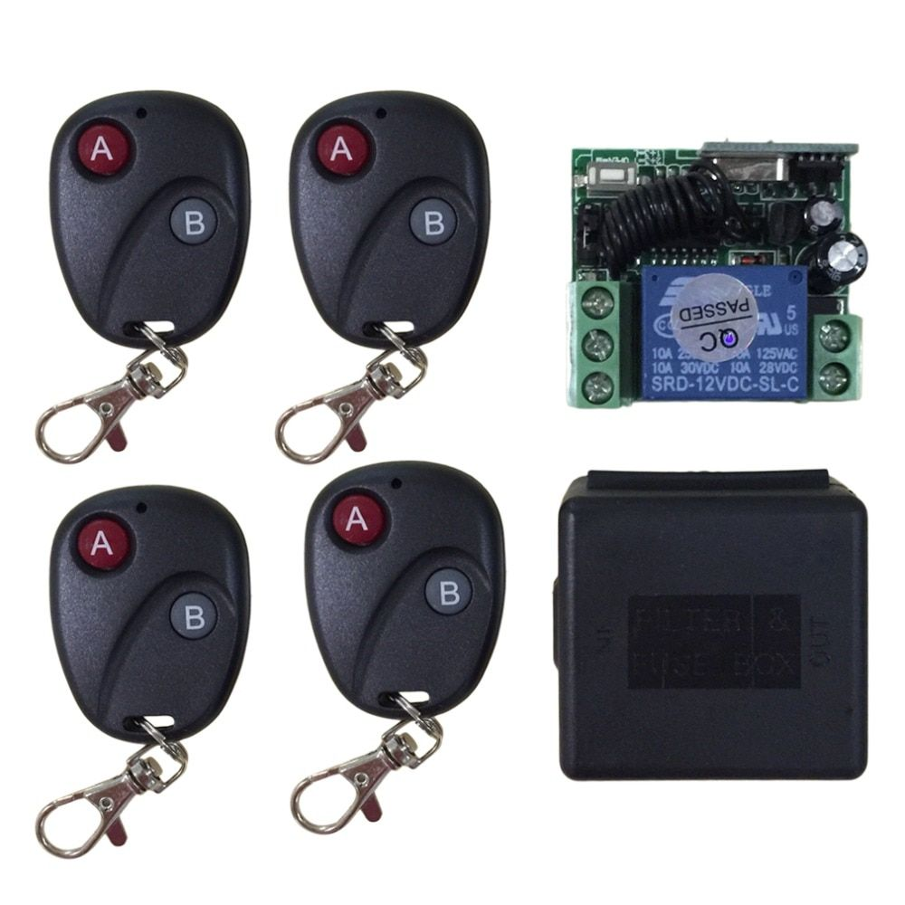 Relay DC 12V 7A 1CH LED wireless RF Remote Control Switch Transmitter Receiver System For Access/door Control System Universal