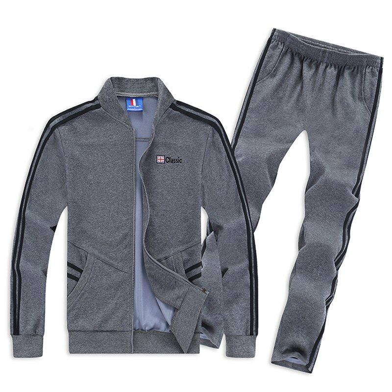 Use For 130kg Mens Sport Suit Large Size 6XL 7XL 8XL Sportswear Sets Loose Keep Warm Gym Clothing Man Running Jogging Suits
