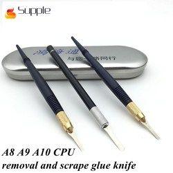 Lentur Motherboard Apple IC Chip Pemindahan Lem Sekop Sekop Pembongkaran A8 A9 A10 CPU Membongkar Pisau Berlapis Pisau Scrape Lem pisau