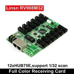 Lysonled Linsn RV908 RV908M32 LED Display Menerima Kartu 12xHub75E Port Mendukung P2/P2.5/P3 Indoor 1/32 Scan LED Module
