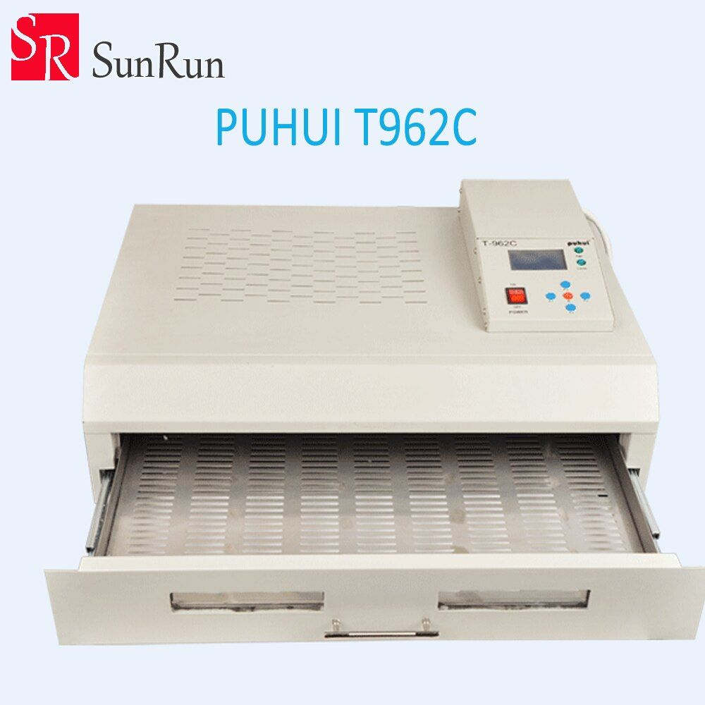 New Arrival PUHUI T-962C Infrared IC Heater T962C Reflow Oven BGA SMD SMT Rework Sation T 962C Reflow Wave Oven