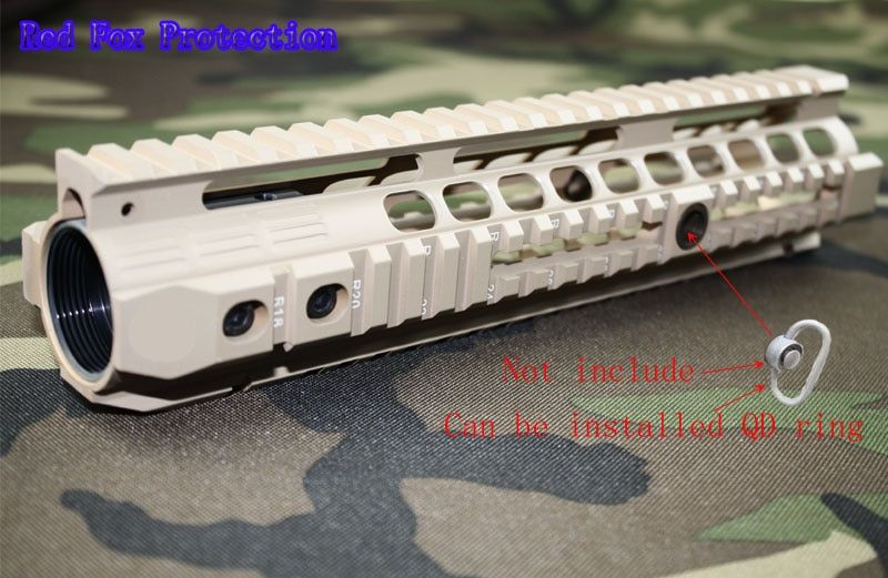 New high quality of 10.0 inch weaver rail for AEG M4 / M16 /AR 15 Tactical Handguard Rail System TAN