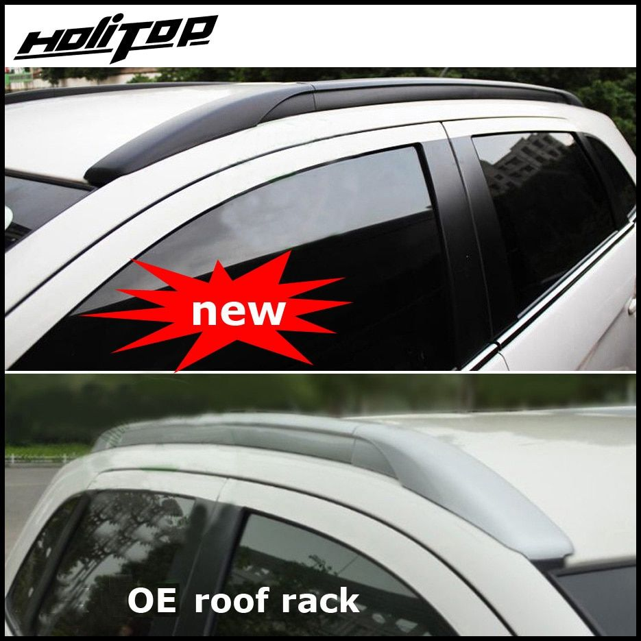 roof rack rail/roof bar for Mitsubishi ASX or RVR 2010-2018, OE style, fix by screws instead of adhesive,aluminium alloy+ABS