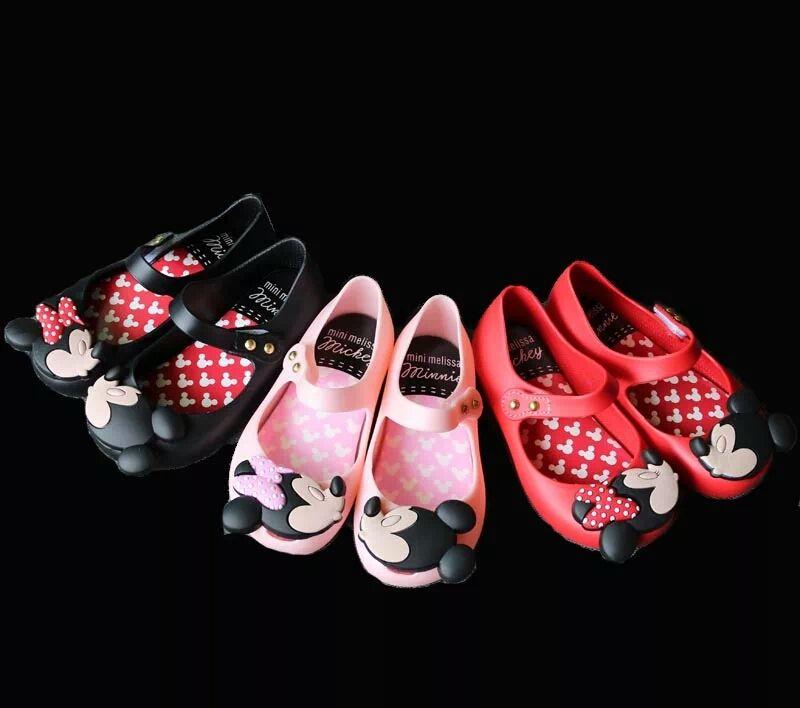 Mini Melissa filles gelée sandales 2019 enfants sandales gelée chaussures Satin bow PVC souple semelle enfants sandales pluie chaussures 15-18 cm