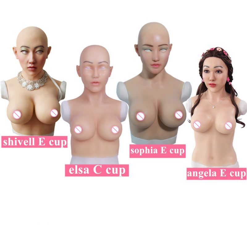 C E Tasse Riesige Künstliche Brüste Silikon Brust Formen Mit Gefälschte Gesicht Für Crossdresser transvestismus Transgender transen Dragequeen