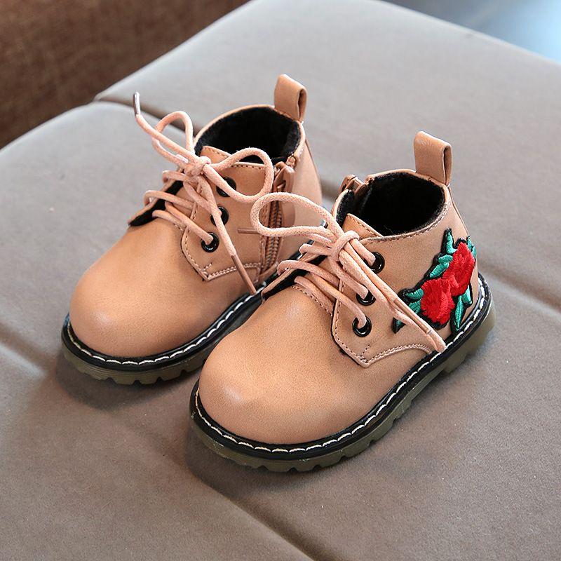 Детская обувь новый 17 зимние модели с Мягкий хлопок детские хлопковые сапоги 0-3 лет Детские теплые ботинки Martin