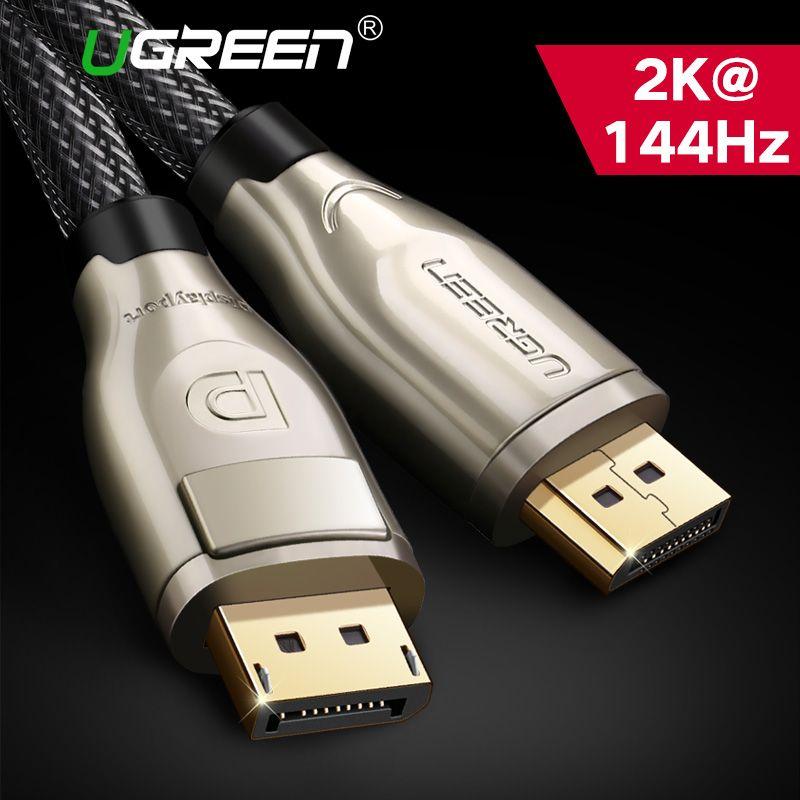 Ugreen DisplayPort câble 144Hz Port d'affichage câble 1.2 4K 60Hz pour HDTV carte graphique projecteur DisplayPort vers DisplayPort câble