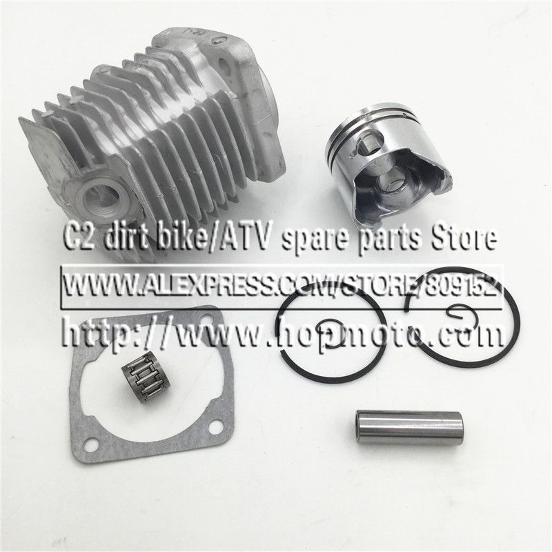 44-6 Engine Cylinder Head With Piston kit for 2 stroke 49cc Mini Dirt bike Mini ATV Quad Pocket bike Piston Ring