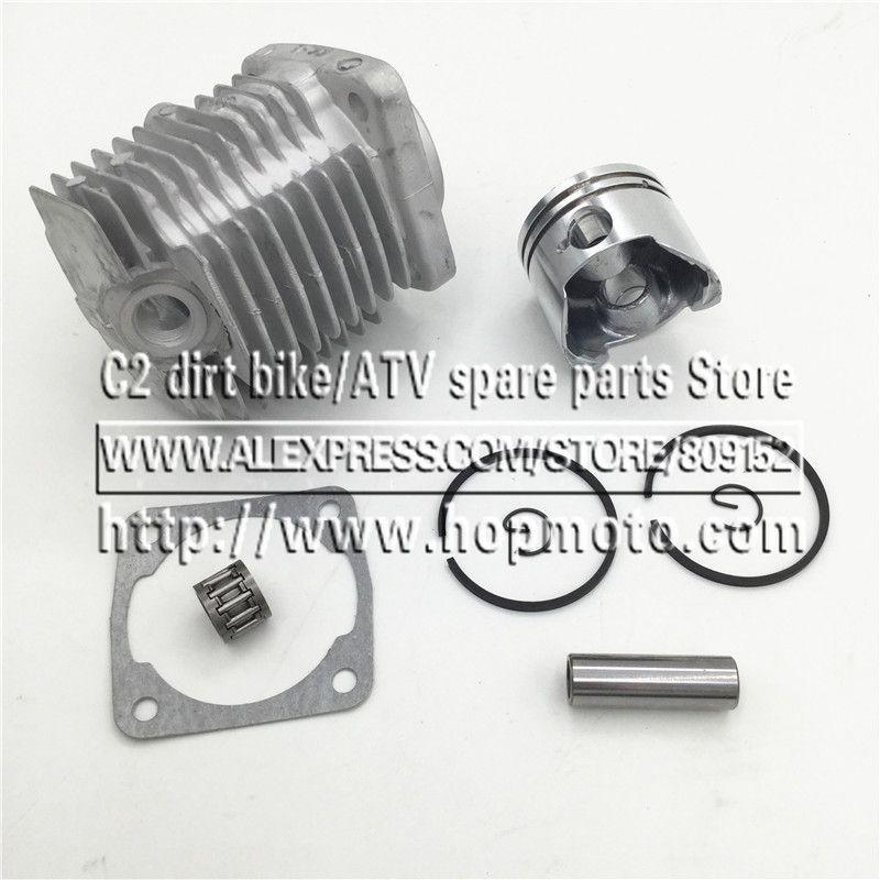 Culasse de moteur 44-6 avec kit de Piston pour 2 temps 49cc Mini vélo de saleté Mini ATV Quad anneau de Piston de vélo de poche