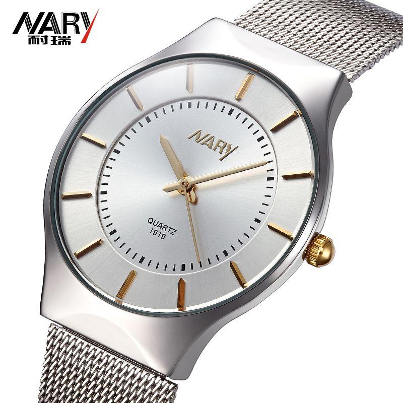 Top Brand NARY Women Watches Ultra Thin Stainless Steel Band Casual Ladies Quartz watch Luxury Wristwatches Relogio Feminino