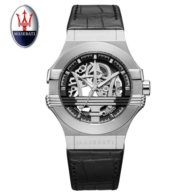 Top Marke Maserati Männer Automatische Uhr Luxus Mechanische Armbanduhr Stahl Armband Wasserdicht Männer Uhren Uhren Masculino