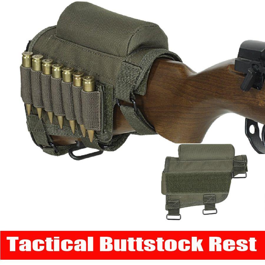 Hunting gun Accessories Adjustable Rifle shotgun Tactical Buttstock Cheek Rest Shooting Pad Ammo case Cartridges Holder Pouch