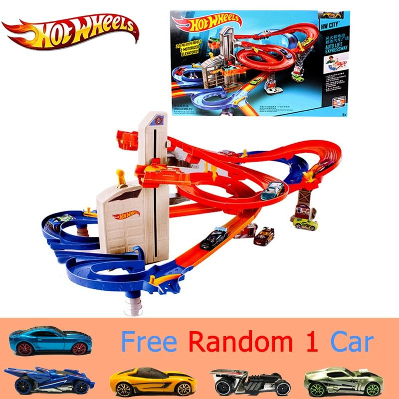 Genuine Hot Wheels Sport Car Track Suit brinquedo Educativo Car Track Exciting Coupe Hotwheels Track CDR08 Toys For Kid