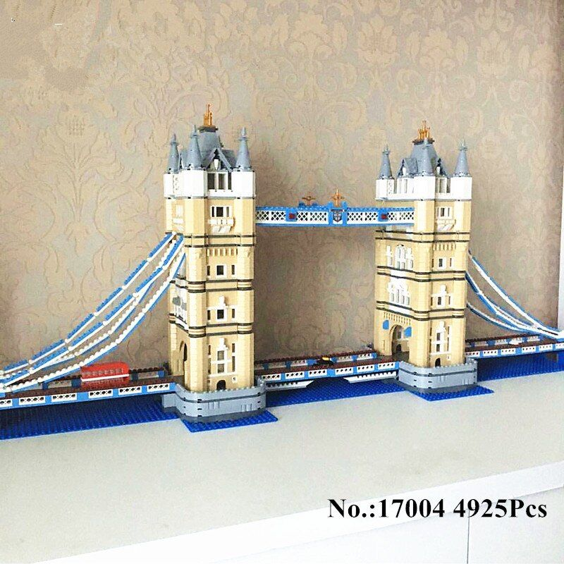 H&HXY IN STOCK Free Shipping 17004 4295pcs London bridge Model Building Kits Brick lepin DIY Toys Compatible 10214 Gifts