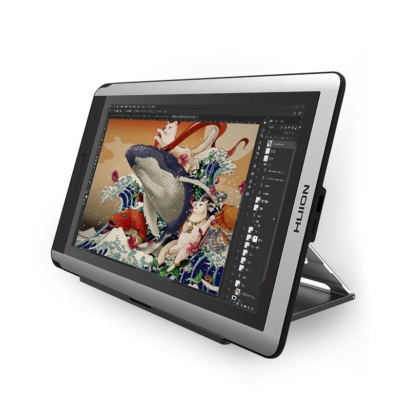 HUION KAMVAS GT-156HD V2 15,6-zoll Digital-grafikdiagramm Monitor Display Monitor mit tastenkombinationen und Verstellbarer Ständer