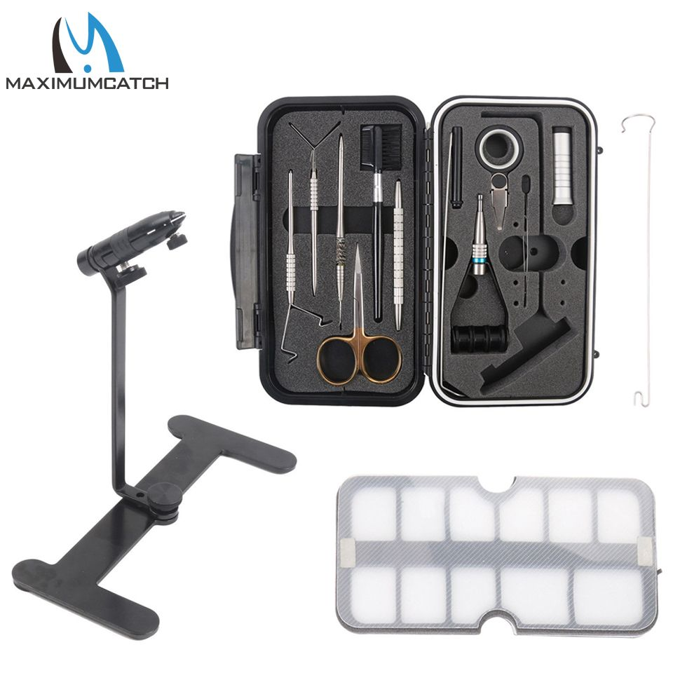 Maximumcatch Fly Tying Vice Travel Set Fly Tying Vise Fishing Tool Fishing Tackle