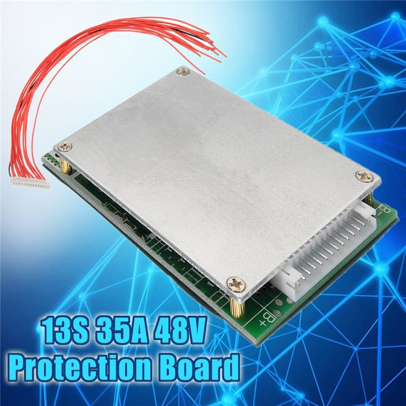 1PC 13S 35A 48V Li-ion Lithium 18650 Battery Protection Board with Cell BMS PCB Protection <font><b>Balance</b></font> Integrated Circuits Board