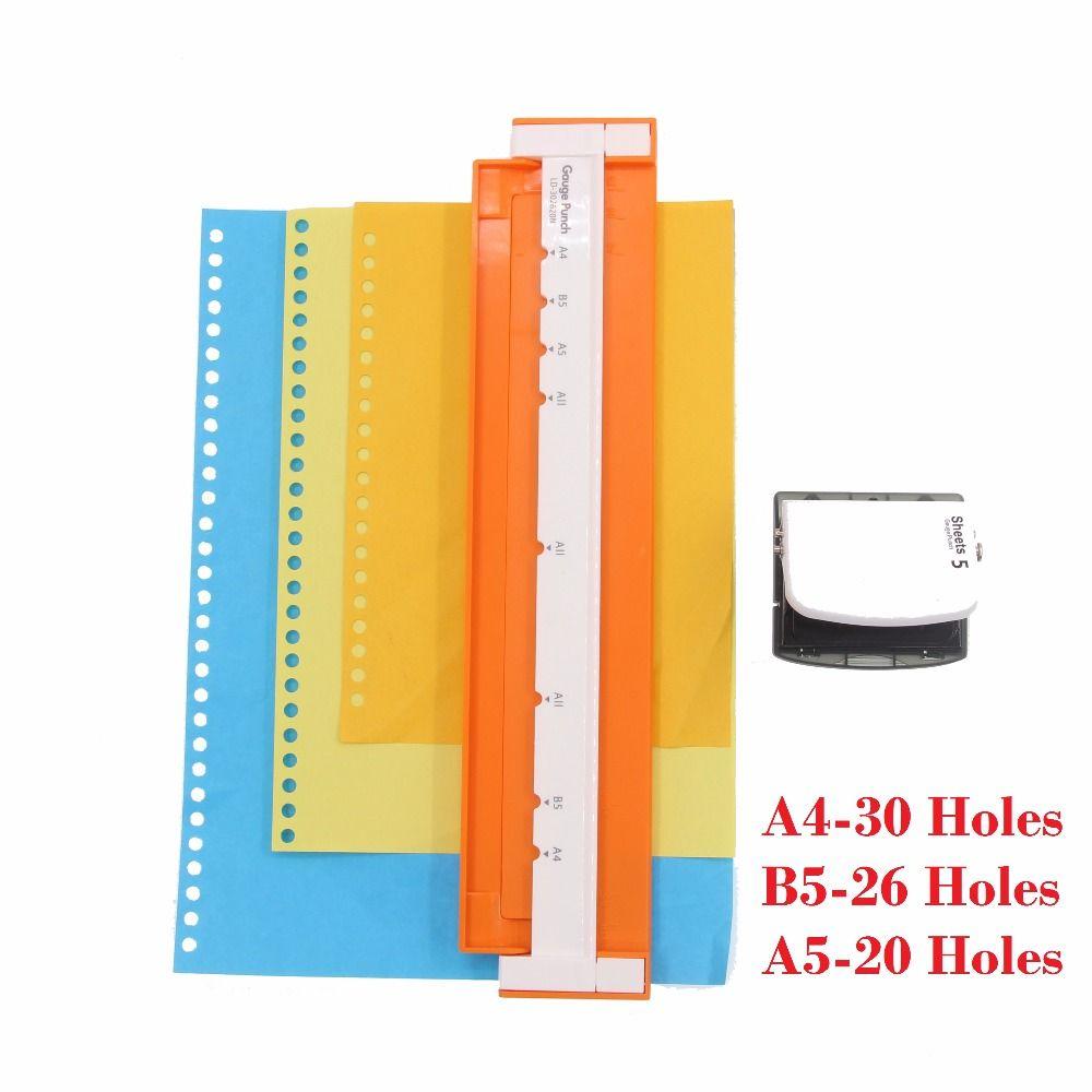 Perforateur 30 trous A4, B5 (26 trous), A5 (20 trous) perforateur en papier perforateur à la main